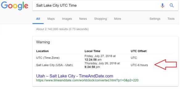Google UTC